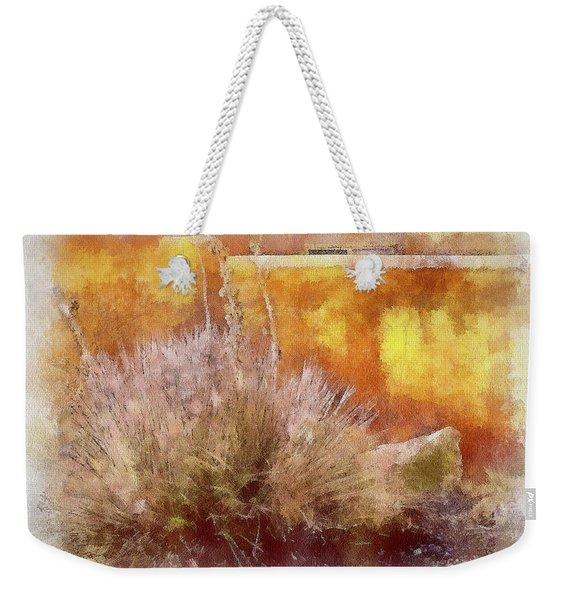 Yucca And Adobe In Aquarelle Weekender Tote Bag