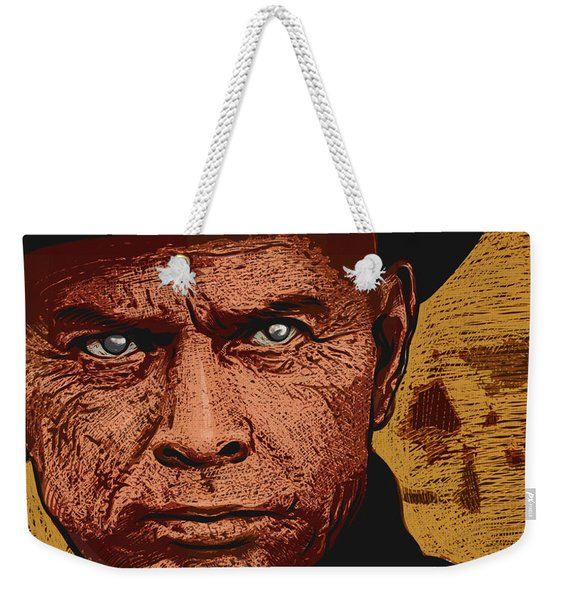 Weekender Tote Bag featuring the digital art Yul Brynner by Antonio Romero