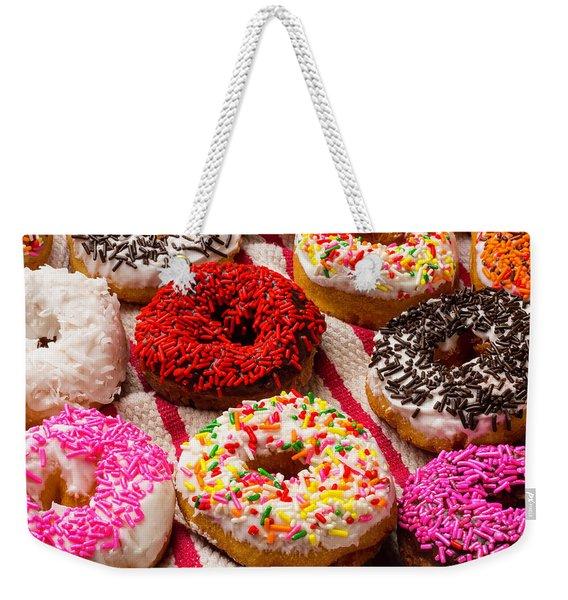 Yummy Donuts Weekender Tote Bag