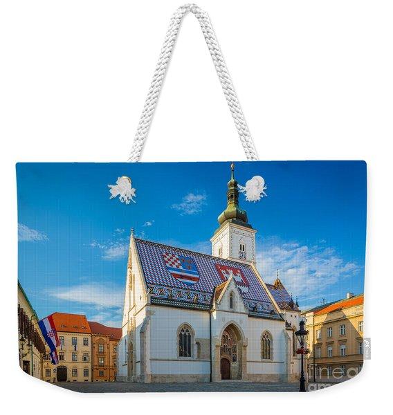 Zagreb St Mark's Church Weekender Tote Bag