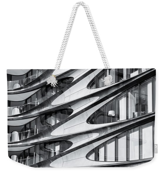 Weekender Tote Bag featuring the photograph zaha hadid Architecture in NYC by Michael Hope