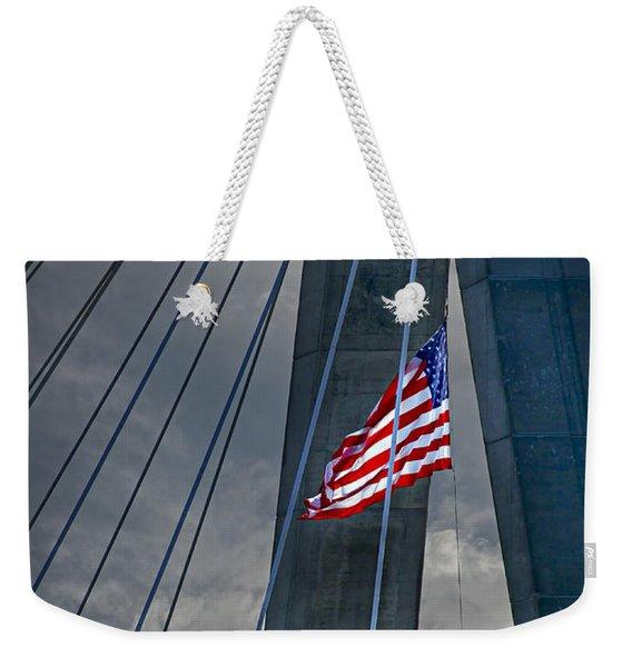 Zakim Bridge Boston Weekender Tote Bag