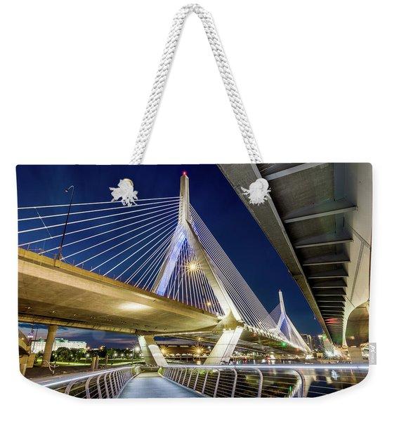 Zakim Bridge From Bridge Under Another Bridge Weekender Tote Bag