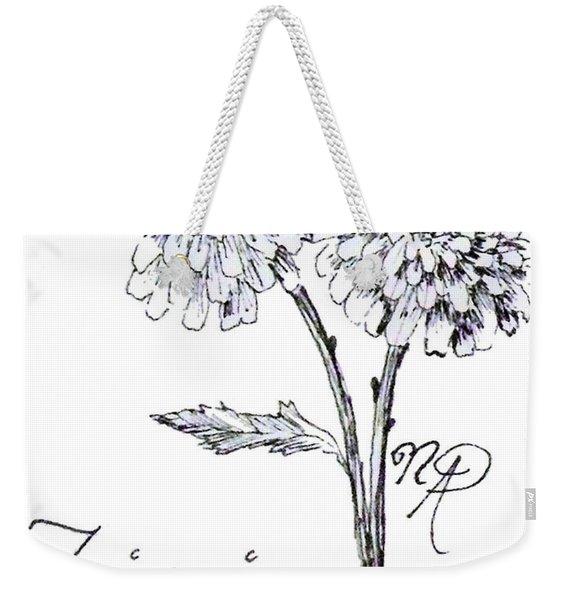 Zannie Zinnia Weekender Tote Bag