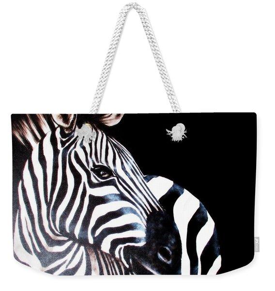 Zebra 2 Weekender Tote Bag