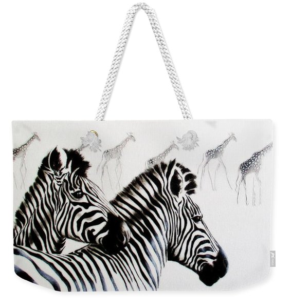 Zebra And Giraffe Weekender Tote Bag