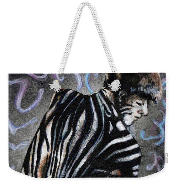 Zebra Boy At Dawn Weekender Tote Bag