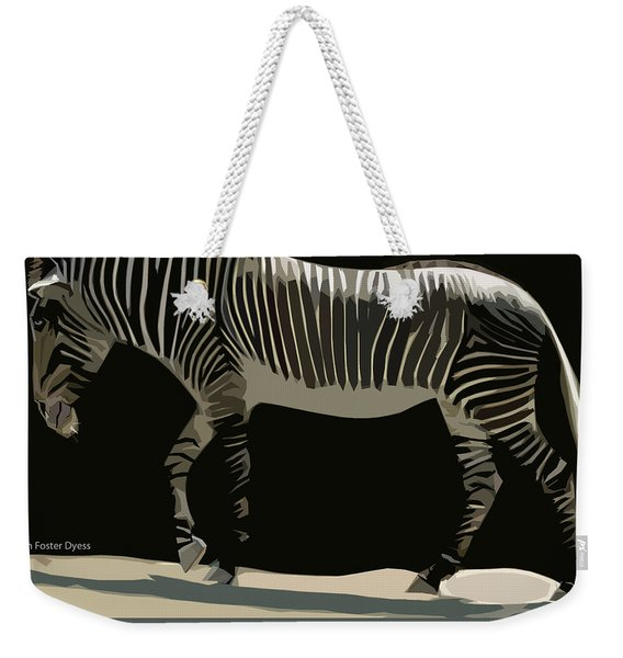 Zebra Design By John Foster Dyess Weekender Tote Bag
