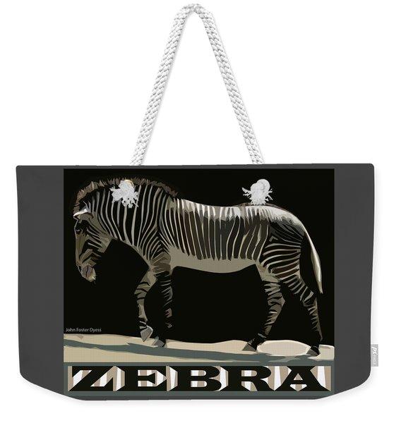 Zebra Design By John Foster Dyess Weekender Tote Bag