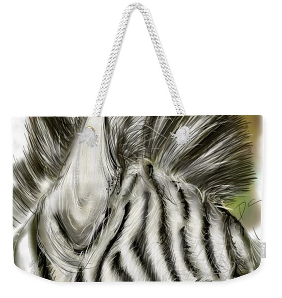 Zebra Digital Weekender Tote Bag