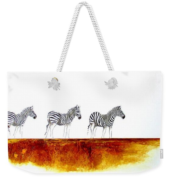 Zebra Landscape - Original Artwork Weekender Tote Bag