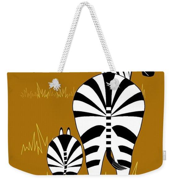 Zebra Mare With Baby Weekender Tote Bag