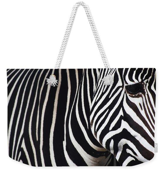 Zebra Close-up Weekender Tote Bag