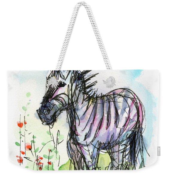 Zebra Painting Watercolor Sketch Weekender Tote Bag