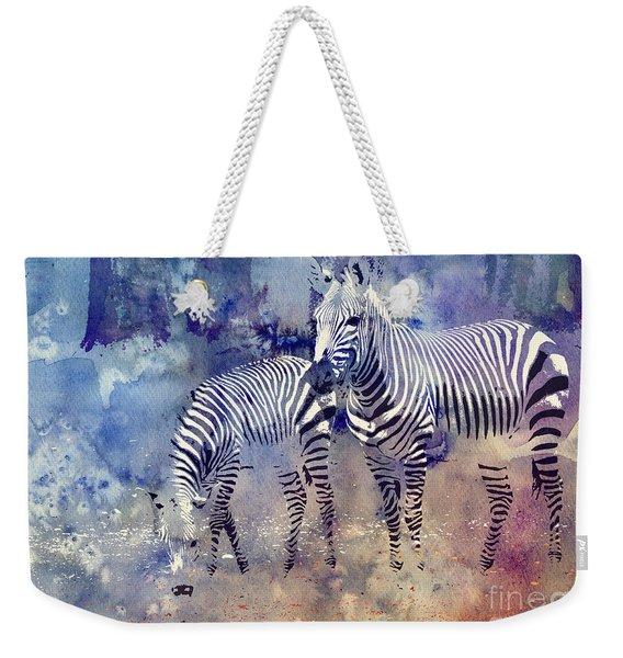 Zebra Paradise Weekender Tote Bag