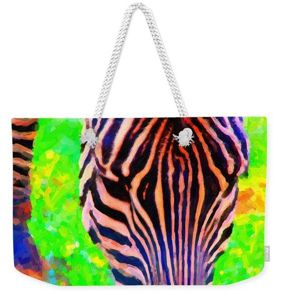 Zebra . Photoart Weekender Tote Bag
