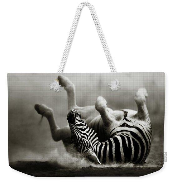 Zebra Rolling Weekender Tote Bag