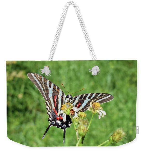 Zebra Swallowtail And Ladybug Weekender Tote Bag