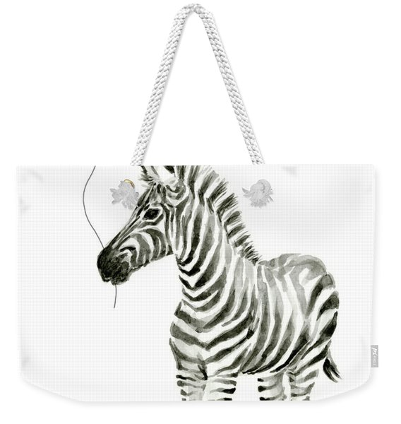Zebra Watercolor Whimsical Animal With Balloon Weekender Tote Bag