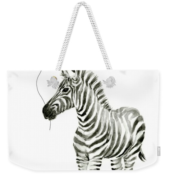Zebra With Red Balloon Whimsical Baby Animals Weekender Tote Bag