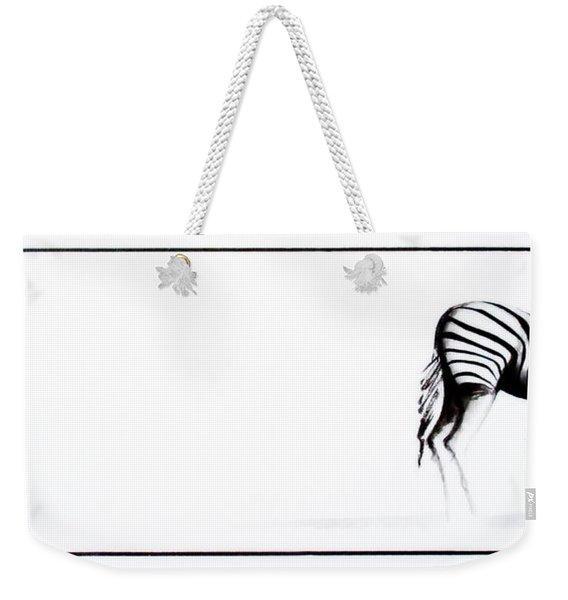 Zebra3 Weekender Tote Bag