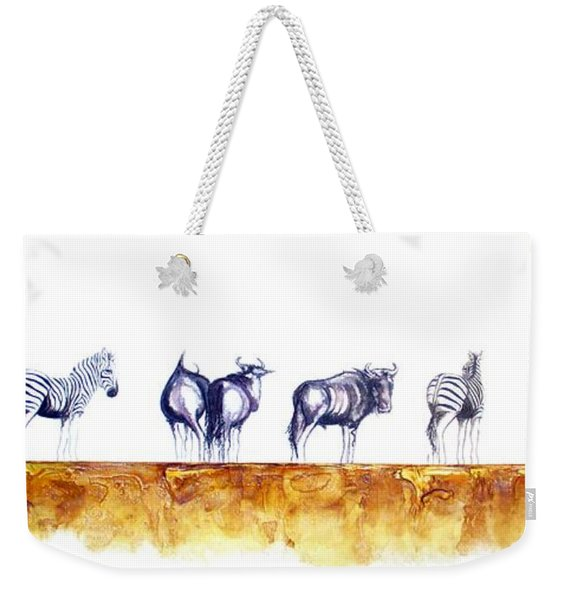 Zebras And Wildebeest 2 Weekender Tote Bag