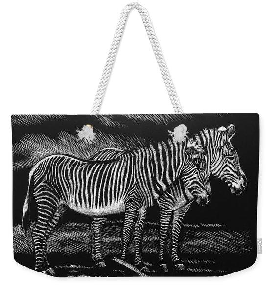 Zebras Weekender Tote Bag