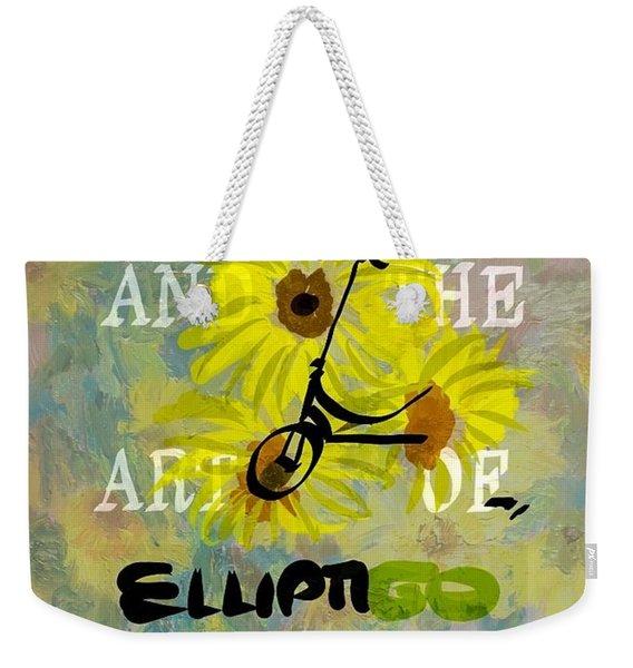 Zen And The Art Of Elliptigo Maintainence, A Parody Weekender Tote Bag