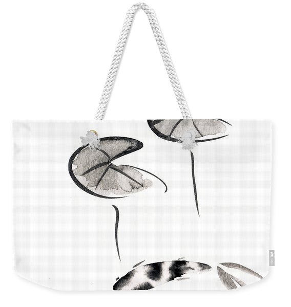 Zen Fish Painting Weekender Tote Bag