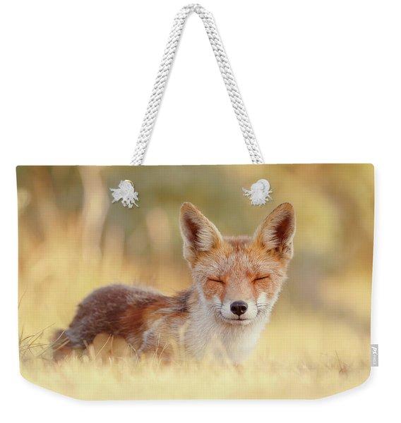 Zen Fox Series - The Smiling Fox Weekender Tote Bag