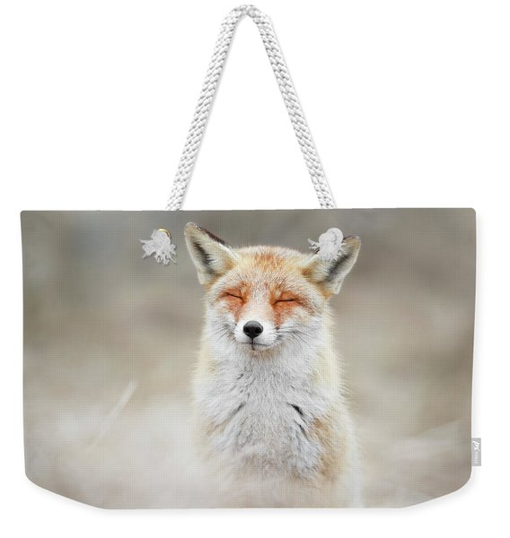 Zen Fox Series - What Does The Fox Think? Weekender Tote Bag