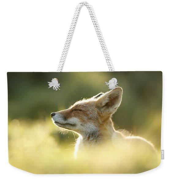 Zen Fox Series - Zen Fox Up Close Weekender Tote Bag