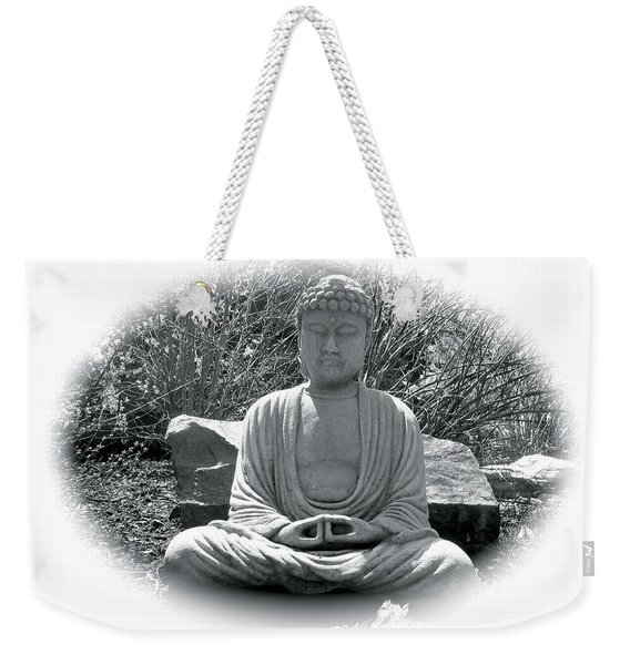 Weekender Tote Bag featuring the painting Zen by Michael Lucarelli
