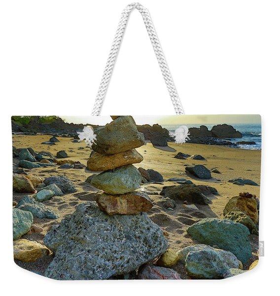 Zen Rock Balance Weekender Tote Bag