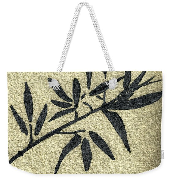 Zen Sumi Antique Botanical 4a Ink On Fine Art Watercolor Paper By Ricardos Weekender Tote Bag