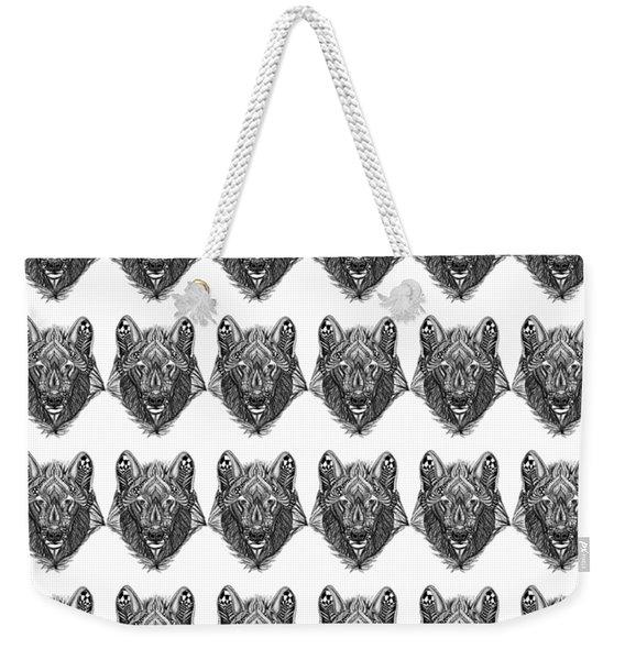 Zendoodle Wolf Weekender Tote Bag