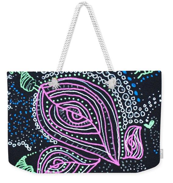Zentangle Flower Weekender Tote Bag
