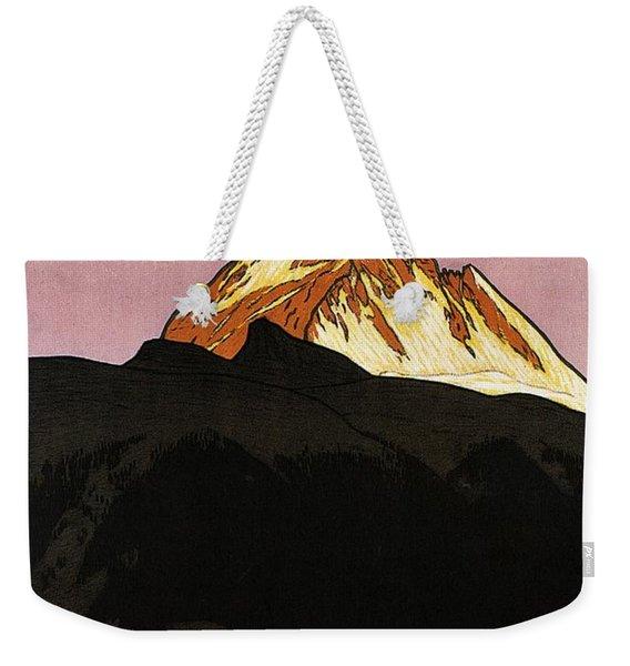 Zermatt, Switzerland - Matterhorn Mountain - Retro Travel Poster - Vintage Poster Weekender Tote Bag