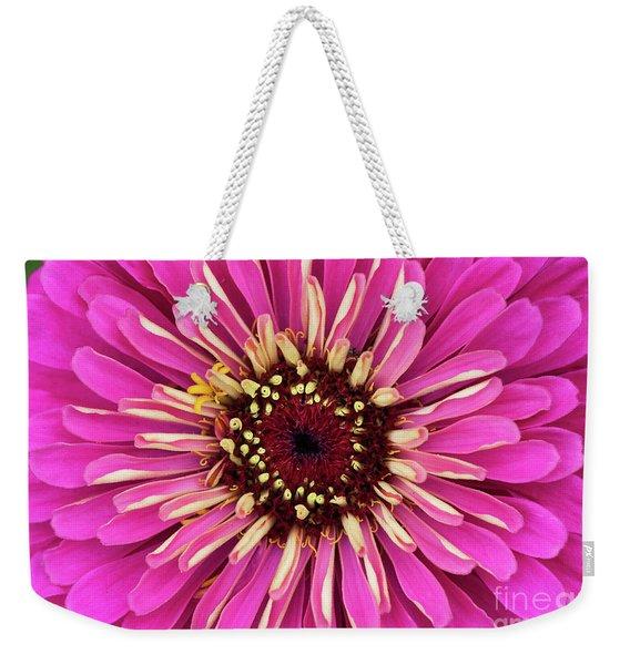 Zinnia Elegans Uproar Rose Weekender Tote Bag