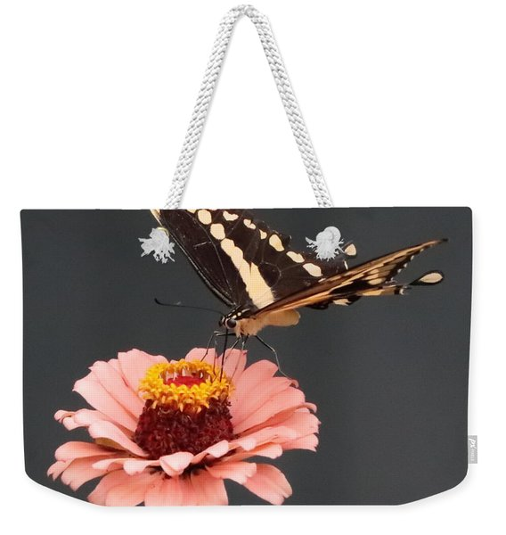 Zinnia With Butterfly 2702 Weekender Tote Bag