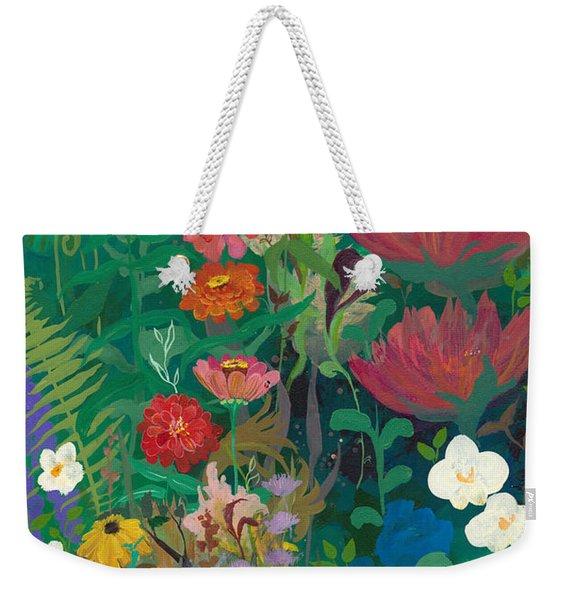 Zinnias Garden Weekender Tote Bag
