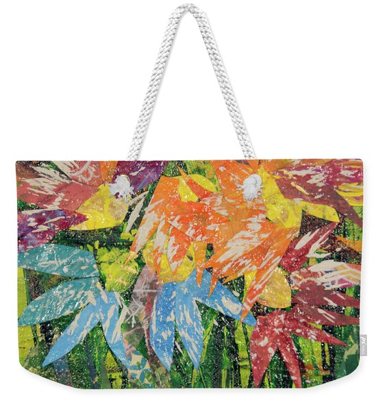 Zinnias Gone Mad Weekender Tote Bag