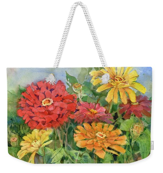 Zinnias Weekender Tote Bag