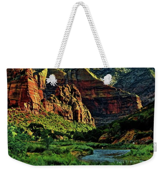 Zion Canyon River Weekender Tote Bag