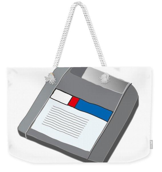Zip Disk Weekender Tote Bag