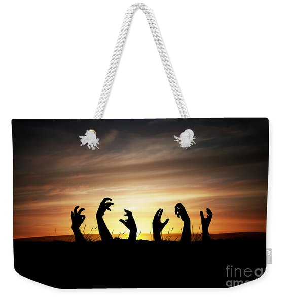 Weekender Tote Bag featuring the photograph Zombie Apocalypse by Clayton Bastiani