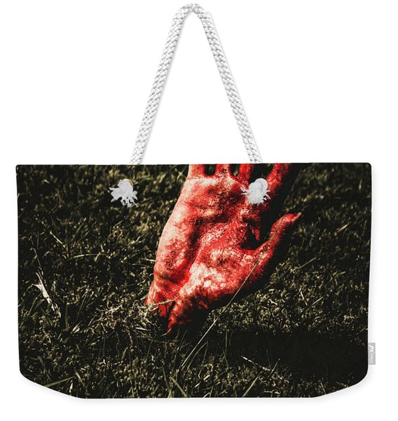 Zombie Rising From A Shallow Grave Weekender Tote Bag