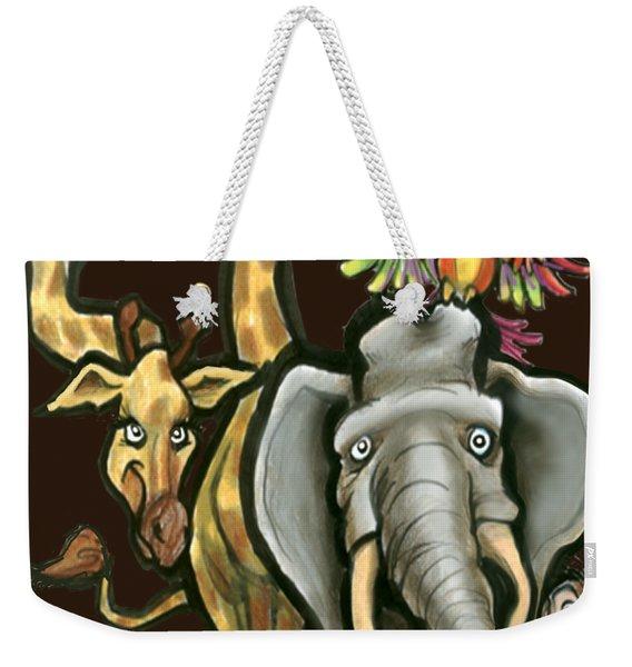 Zoo Animals Weekender Tote Bag