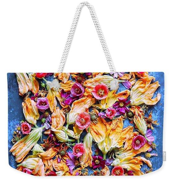 Zucchini Blossoms Season Weekender Tote Bag