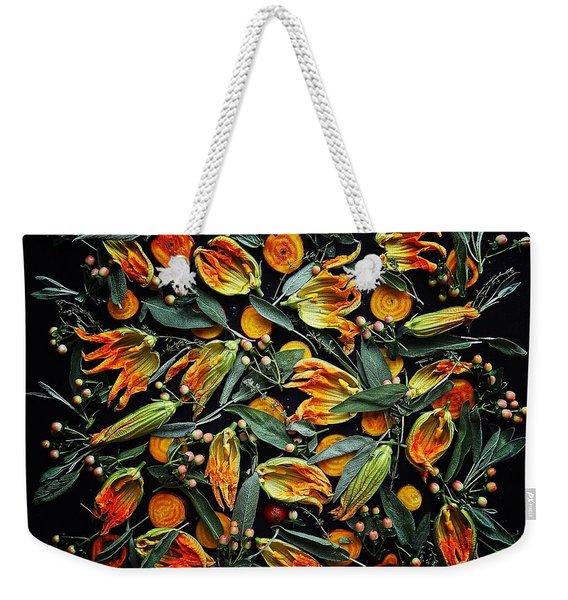 Zucchini Flower Patterns Weekender Tote Bag